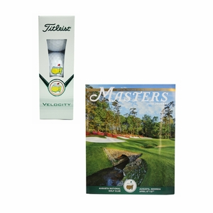 Masters 3 Pack Velocity Golf Balls & 2015 Masters journal