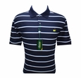Masters Golf Shirt - Navy with Snow and White Stripes - Medium through XXL