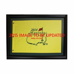 2015 Masters Embroidered Framed Pin Flag