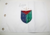 Lot 476 - Phil Mickelson Signed White Embroidered Hall of Fame Flag JSA COA