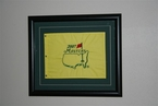 Framed 2007 Masters Embroidered Pin Flag