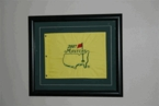 Framed 2008 Masters Embroidered Pin Flag