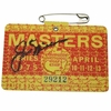Lot 408 - 1975 Masters Badge Signed by Jack Nicklaus JSA COA