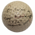 Lot 1 - 1955 Masters Golf Ball Used & Signed By Champ Cary Middlecoff - '1955' and 'Augusta'