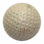 Lot 1 - Ben Hogan 1953 US Open @ Oakmont Championship Used Titleist Golf Ball-Gifted To Ralph Hutchison