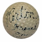 """Lot 1 - Horton Smith Signed """"In His Prime""""Golf Ball Earliest Known-1934/36 Masters Champ"""