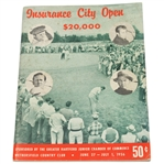 Lot 100 - 1956 Insurance City Open Program - Arnold Palmer 2nd Career Win!