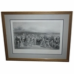 Lot 12 - 1850 The Golfers: A Grand Match Played Over the St. Andrews Links' - B & W Engraved By Wagstaffe
