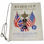 Lot 13 - 1933 Ryder Cup at Southport and Ainsdale GC Program-Walter Hagen Captain