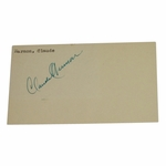 Lot 13 - Seldom Seen! 1948 Masters Champion CLAUDE HARMON Signed 3x5 (1951) Government Postcard