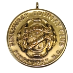 Lot 13 - 1911 Pinehurst CC 14k Gold Medal - Best Gross Score Mid-Winter Tournament - F.A. Martin