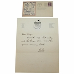 Lot 13 - 1933 Letter on Augusta National Letterhead with First Day Cachet - from 'Reed'