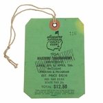 Lot 14 - 1954 Masters Tournament SERIES Ticket/ Badge #116 - LOW NUMBER