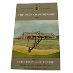 Lot 15 - 1962 British Open Program Signed by Arnold Palmer - Royal Troon JSA COA
