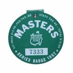 Lot 15 - 1962 Masters Badge - #7333