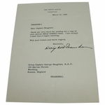 "Lot 16 - Dwight D Eisenhower Signed White House Letter to George Houghton Author ""Addicts"" Golf Books"