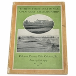 Lot 16 - 1927 US Open Championship at Oakmont CC Program - Tommy Armour Winner