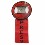 Lot 17 - 1938 Masters Tournament Press Badge with Ribbon - Picard Winner
