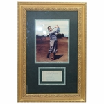 Lot 18 - Bobby Jones Signed Album Page Grand Slam Winning Tournaments with Photo - Deluxe Framed JSA COA