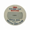 Lot 19 - 18th Walker Cup Press Badge - Sept. 1-2, 1961 Seattle Golf Club-Jack Nicklaus
