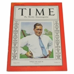 Lot 19 - 1930 Time Magazine with Bobby Jones on Cover - Highly Desired & Top Quality Example