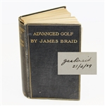 Lot 19 - James Braid Signed and Inscribed 'Advanced Golf' Book - Rare JSA ALOA