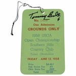 Lot 19 - 1958 US Open at Southern Hills Friday Ticket Signed by Tommy Bolt