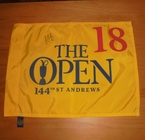 LOT #198: Louie Oostheuzen Signed 2015 Open Championship Flag - St. Andrews