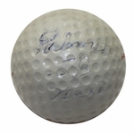 Lot 2 - Arnold Palmer 1958 Masters Tournament Used Wilson Golf Ball-Gifted to Ralph Hutchison
