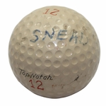 Lot 2 - Sam Snead 1954 Masters Win Tournament Used Top Notch Golf Ball-Gifted To Ralph Hutchinson