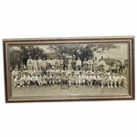 Lot 2 - Contestant Dick Metz's 1935 Masters Field Photo Signed by 75 incl. Jones