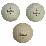 Lot 20 - Jack Fleck's 3 PGA Tour Winning Final Putt Golf Balls - 1955 US Open Win Over Ben Hogan