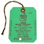 Lot 20 - 1960 Masters Tournament SERIES Badge #8446 - Palmer's 2nd Victory