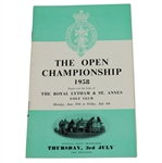 Lot 20 - 1958 Open Championship at Royal Lytham & St. Annes Programme - Peter Thomson Winner