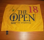 LOT #201: Danny Lee Signed 2015 Open Championship Flag - St. Andrews