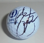 LOT #203: Rickie Fowler Signed 2015 Open Championship Logo Golf Ball - St. Andrews