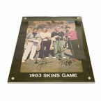 Lot 21 - 1983 Skins Game Photo Signed by The Big 4 - Nicklaus, Palmer, Player, and Watson JSA COA