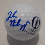 LOT #212: Jordan Niebrugge Signed 2015 Open Championship Logo Golf Ball - St. Andrews