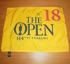 LOT #215: Justin Rose Signed 2015 Open Championship Flag - St. Andrews