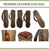 Lot 22 - Augusta National Members Vintage Leather and Canvas Golf Bag