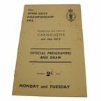 Lot 22 - 1953 British Open Program - Ben Hogan Winner - Carnoustie