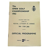 Lot 22 - 1952 Open Championship at Royal Lytham St. Annes Programme - Bobby Locke Winner