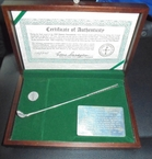 LOT #221: Gene Sarazen Signed Ltd Ed 1935 Masters Sterling Silver 4wd Presentation