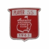 Lot 23 - Jack Fleck's 1963 Masters Contestant Pin - 1st Masters Win Nicklaus - Few # Made!
