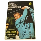 Lot 23 - 1973 Open Golf Program Signed by Arnold Palmer and Tom Weiskopf - Old Troon JSA COA