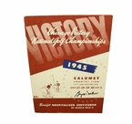 Lot 23 - 1945 Chicago Victory National Championship Program Signed by Byron Nelson-8th Win Of 11 Straight