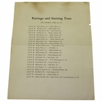 Lot 23 - 1941 Masters Saturday Pairing Sheet - Craig Wood Winner