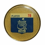 Lot 23 - Tiger Woods' 2004 Masters Player Contestant Pin #78 - Palmer Last Year & Phil 1st Win