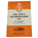 Lot 23 - 1955 Open Championship at St. Andrews Programme - Peter Thomson Winner