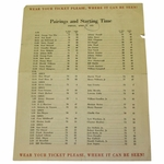 Lot 24 - 1951 Masters Friday Pairing Sheet - Ben Hogan Winner